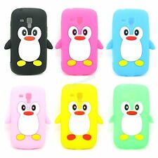New Select Cute Penguin Silicone Soft Case Skin for Samsung Galaxy S Duos S7562