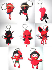 Red & Black Voodoo String Doll Keychain Ornament Accessory Gift (Thai handmade)