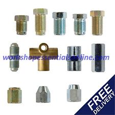 """Brake Pipe Unions-Fittings-Ends Sizes for all Cars Metric & 3/8"""" UNF Copper Pipe"""