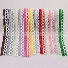 Fashion New Double Color Fabric Lace Tape DIY Decorative Washi Cotton Knit Tapes