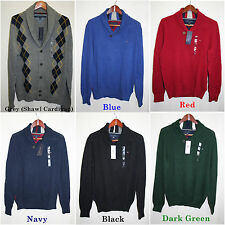 Tommy Hilfiger,Men's Sweaters,Pullover/Cardigan Shawl Collar.