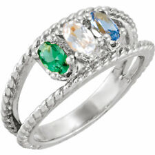 Mother's Jewelry Sterling Silver 1-6 Oval Birthstones Mothers Ring, Moms gift