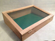 OAK Glass display case/cabinet TOUGHENED GLASS