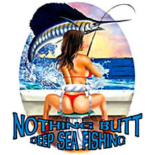 Sexy Woman T-Shirt Nothing Butt Deep Sea Fishing Hot T-Shirt All Sizes & Colors