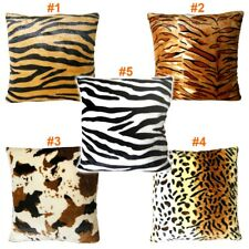 Animal Multi-Pattern Faux Fur Decorative Throw Pillow Cover Cushion Case Square