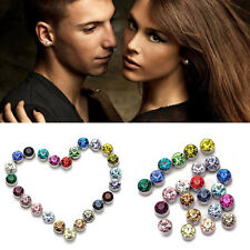 1 Pair Womens Mens Magnetic Magnet Ear Stud Earrings Clip On No Ear Hole New Q