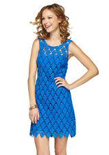 NEW Lilly Pulitzer Dress Shiloh Lace blue Dress 0/2/4/6/8/XS/S/M $378