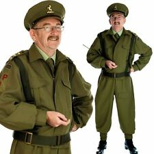 Mens British Home Guard Officer Costume - Army / WW2 30s 40s Fancy Dress Outfit