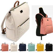 NEW WOMEN'S FASHION GOLD STUDDED FAUX LEATHER BACKPACK 6 COLORS AVAILABLE #C946