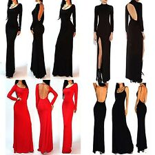 4Styles Backless Sexy Mermaid Stretch Bodycon Party Ball Evening Long Maxi Dress