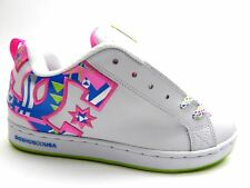 DC COURT GRAFFIK WHITE CRAZY PINK CITRUS WOMEN SHOES SIZE 9