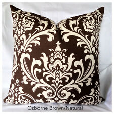 Ozborne Village Brown / Natural Home Accent Throw Pillow Cover Pillow Case