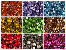 1000pcs 5mm ss20 Flat Back Round Cut 14 Facets Resin Rhinestones, Diamante Beads