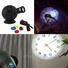 New LED Analogue Projection Wall Clock Light Beam Virtual Shadow Home Bedroom