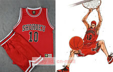 SLAM DUNK Cosplay Shohoku School Basketball 10 Sakuragi Replica RED Vest + pants