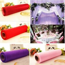 Roll Of Crystal Organza Sheer Fabric 26M X 28CM Soft Wedding Gift Party Bow DIY