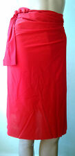 sarong beach cover up GOTTEX red wrap swim skirt
