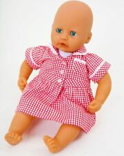 FRILLY LILY CHECKED SCHOOL DRESS FOR BABY ANNABELL  LOTS OF COLOURS AVAILABLE .
