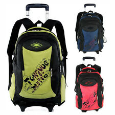 New Children School bag Backpack Womens Mens Removable Trolley Rolling Luggage