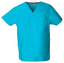 Dickies Scrubs 83706 V Neck Unisex Scrub Top Dickies EDS Turquoise