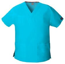Dickies Scrubs V Neck Scrub Top Dickies EDS 86706 Signature Turquoise