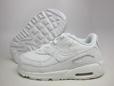 NEW NIKE BABY AIR MAX 90 TD TODDLERS [408110-111]  WHITE // WHITE-WHITE