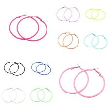 New Pair of Large Candy Coloured Big Circle Hoop Earrings - Choice of Colour