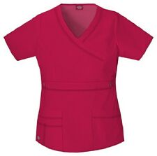 Dickies Scrubs 817355 V Neck Scrub Top Dickies GenFlex Jr Fit Crimson