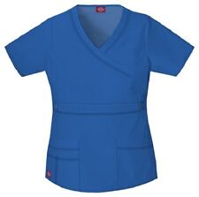 Dickies Scrubs 817355 V Neck Scrub Top Dickies GenFlex Jr Fit Royal Blue