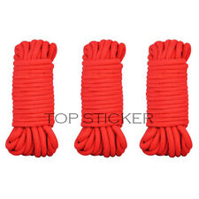 Pack of 3 Soft Cotton Bondage Rope 10 metres 35ft Black Red Kinky Fetish Sex Toy