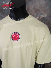 NWT! Mens Official NIKE Brand T Shirt Dull Khaki with Puffy Basketball Graphix