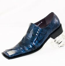 XL033 CLEVIS Men Dress Fashion Shoe Blue Loafer