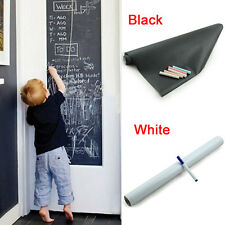 Vinyl Chalkboard Wall Sticker Removable Blackboard Decals 200*45cm + Chalks Pen