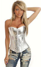 SLIVER LINGERIE STAIN CORSET INTIMATES BUSTIERS FOR WOMAN G-STRING SIZE S-XXL