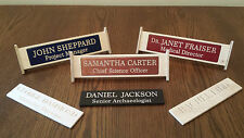 Personalised Engraved Wooden Desk Name Plaque
