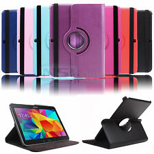 For Samsung Galaxy Tab 4 10.1 SM-T530NU T537 Smart Cover Rotating Case Wake Up
