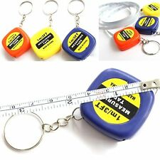 FD215 Easy Keychain Retractable Ruler Tape Measure Small Portable Pull Ruler x1