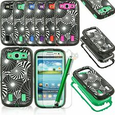Heavy Duty Hybrid Rugged Rubber Matte Case For Samsung Galaxy S3 i9300 + Gifts