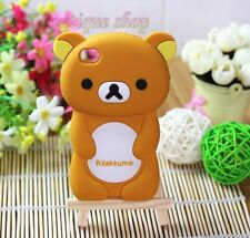 Cell Phone Cover for Apple iPhone 3G/4/4S 3D Rilakkuma Bear Soft Silicone Case