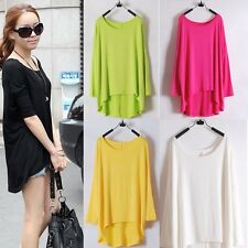 Sexy Womens Loose Long Batwing Sleeve Top Shirt Pullover Jumper Sweater Outwear
