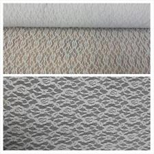 1 yard white light gray black ivory 4 way floral design stretch lace fabric