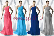 Chiffon Women Bridesmaid Wedding Evening Party Prom Gown Ball Dresses Size 6-16