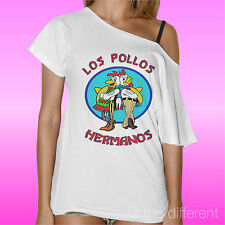 "T-SHIRT DONNA COLLO BARCA ""LOS POLLOS HERMANOS BREAKING BAD "" IDEA REGALO"
