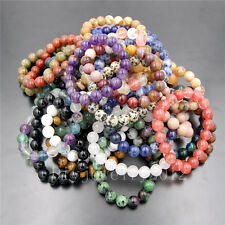 """Wholesale 12mm Natural Nature Round Beads Stretchy Bracelet 7""""/7.5""""/8""""/8.5"""""""