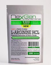 100g (3.5oz) 100% L-ARGININE POWDER PHARMACEUTICAL KOSHER Muscle Cardio Sex& NO2