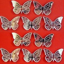 Butterfly Etched Wings Mirrors, Crafting & Decorative 3mm Acrylic, Sticky Pads