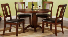 Dining Set Dining Room Furniture Set Dining Table+4 Side Chairs Dark Oak color