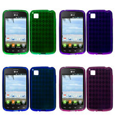 Candy Skin Gel TPU Cell Phone Case Cover for LG Optimus Dynamic II L39C
