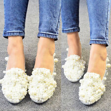 New Women's Rhinestone pearl Flats Boat Shoes Oxfords Fashion Pumps Marry Shoes