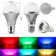 GU10 E27 B22 RGB 3W 5W Colour Changing Dimmable LED Bulb Light Lamp +FREE Remote